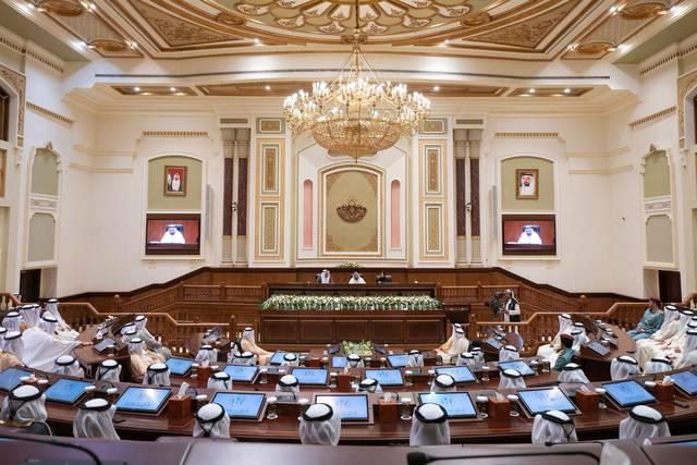 جانب من الانعقاد العادي الأول من الفصل التشريعي العاشر للمجلس الاستشاري لإمارة الشارقة