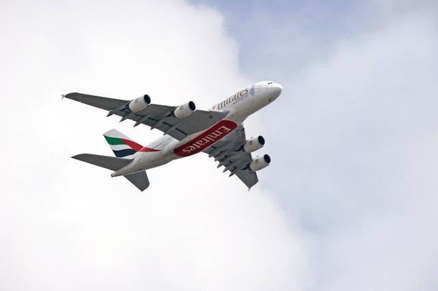 طائرة تابعة لشركة طيران الإمارات