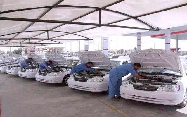 مركز لتحويل سيارات الأجرة في مصر للعمل بالغاز ـ أرشيفية