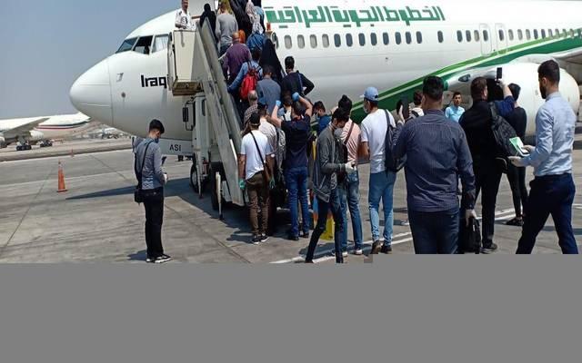 طائرة تابعة للخطوط الجوية العراقية لنقل المواطنين العالقين بالخارج خلال أزمة كورونا