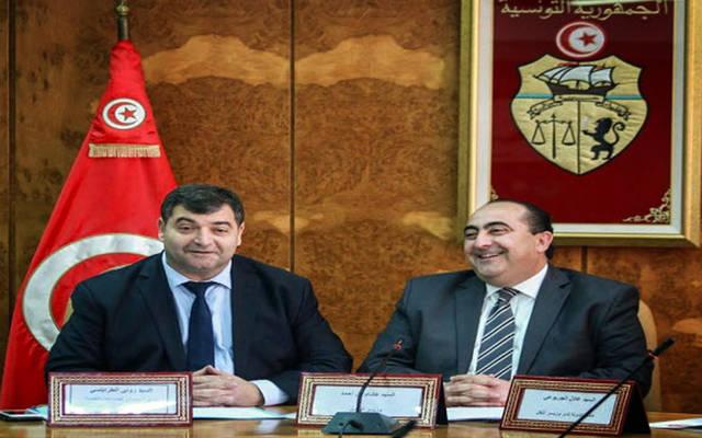 وزيرا النقل والسياحة التونسيان رينيه طرابلسي وهشام ين أحمد