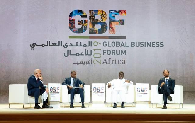 جانب من فعاليات المنتدى العالمي الأفريقي للأعمال في دبي
