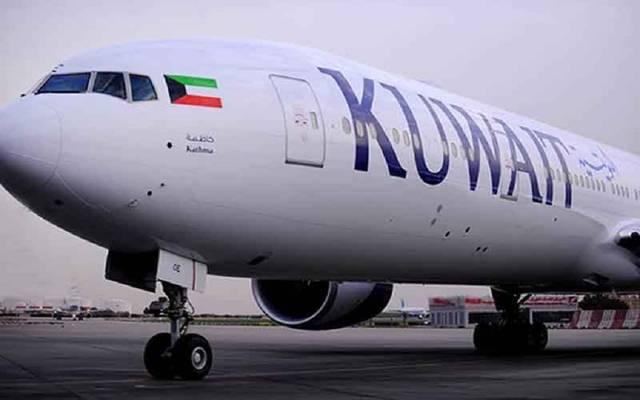 إحدى طائرات الخطوط الكويتية
