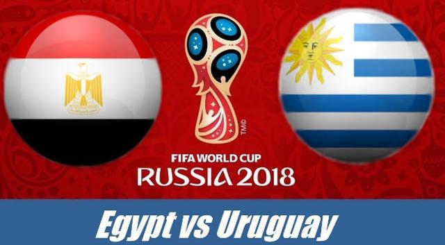 """عمل """" بروفة """" للسلام الوطني لكل من مصر وأوروجواي قبل انطلاق المباراة"""