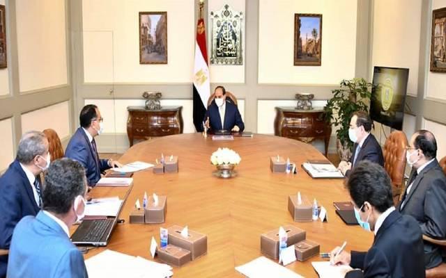 الرئيس السيسي وجه أيضا بضمان حوكمة أداء منظومة المخابز خلال الاجتماع