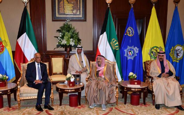 جانب من لقاء أمير الكويت برئيس مجلس النواب المصري