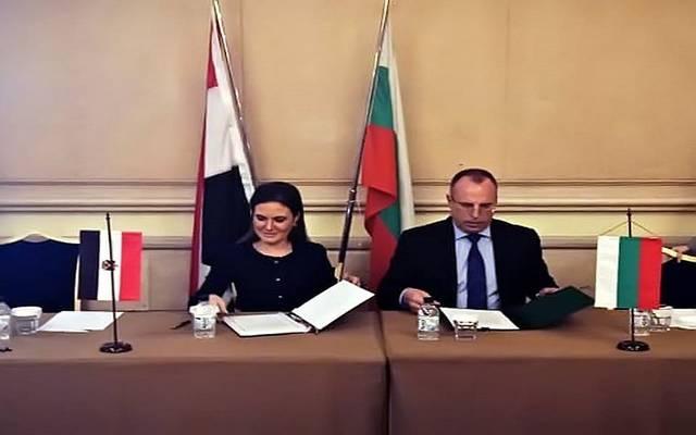 جانب من توقيع البروتوكول في بلغاريا