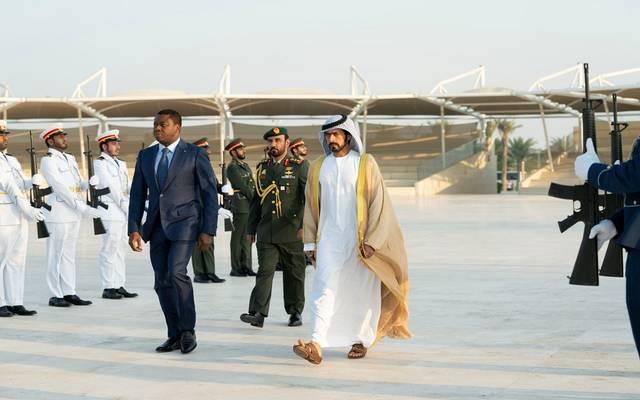 الشيخ خليفة بن طحنون آل نهيان في استقبال رئيس توغو