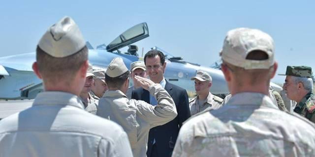 فيديو.. الأسد يصل مقر عمله بعد ساعات من الضربة الأمريكية