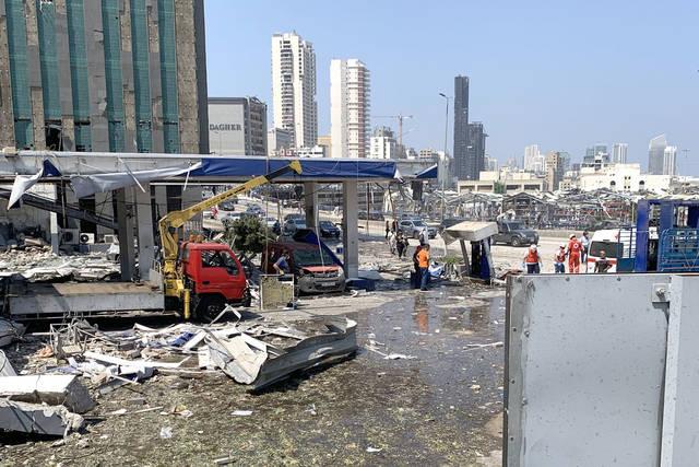 ضورة لأضرار انفجار بيروت