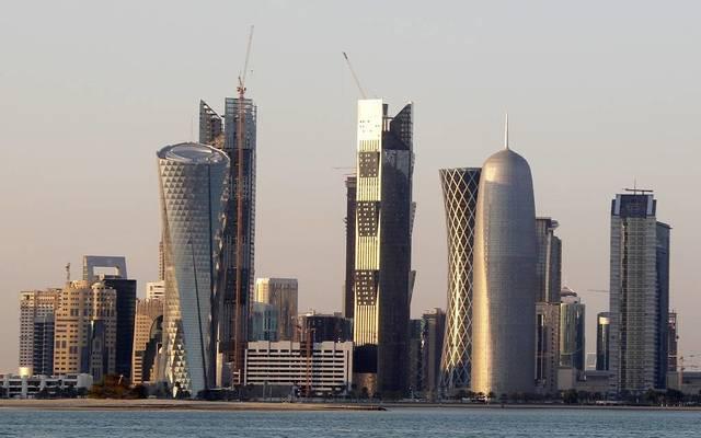 الصورة من كورنيش الدوحة