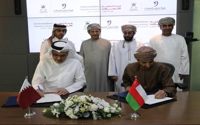 الصورة على هامش توقيع الاتفاقية