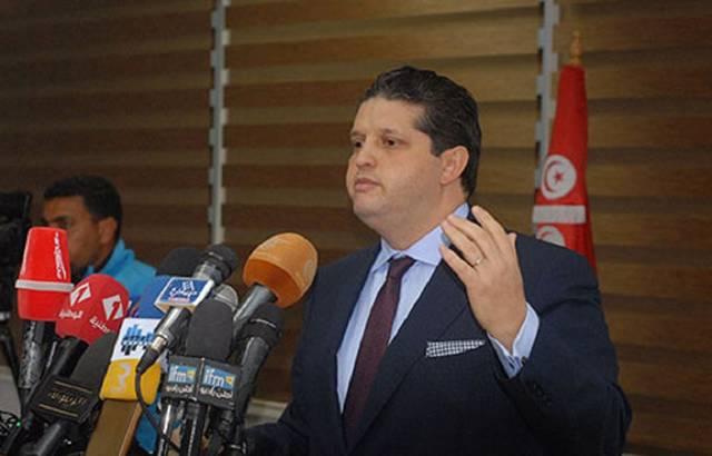 عمر الباهي- وزير التجارة التونسية بحكومة يوسف الشاهد - الصورة من بيان الوزارة
