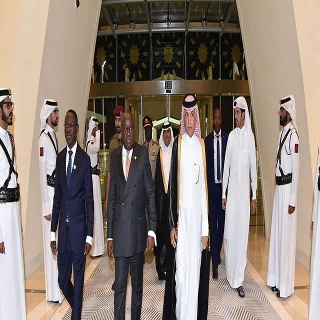 رئيس غانا لدى وصوله مطار الدوحة