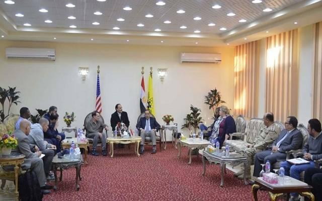 جانب من زيارة وفد الكونجرس شمال سيناء