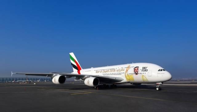 إحدى الطائرات التابعة لشركة طيران الإمارات من طراز بوينج