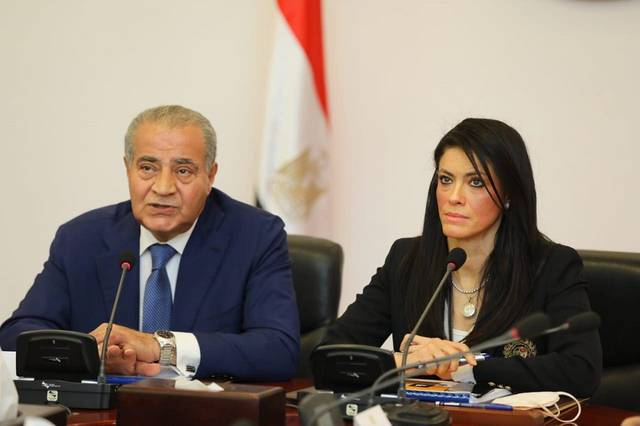 Egypt's Ministers of International Cooperation and Supply and Internal Trade