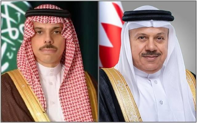 وزيرا خارجية البحرين والسعودية