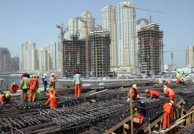 أحد مواقع الإنشاءات في إمارة أبوظبي