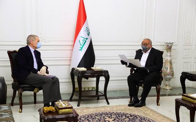 استقبال رئيس مجلس الوزراء العراقي عادل عبد المهدي، السفير الأمريكي في بغداد ماثيو تولر