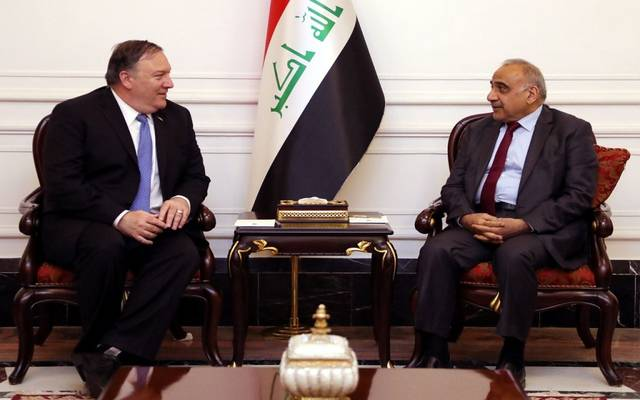رئيؤس وزراء العراق في لقاء سابق مع وزير الخارجية الأمريكي