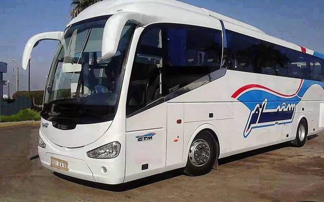 إحدى حافلات الشركة المغربية للنقل ستيام