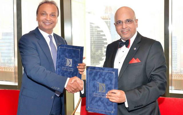 """""""بنك الدوحة"""" يدخل في شراكة مع """"ريلاينس أميل أمباني"""" الهندية"""