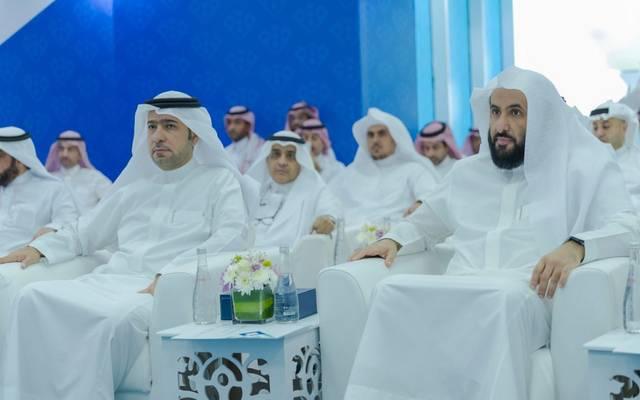 وزيرا العدل والإسكان السعوديين خلال تدشين المركز السعودي للتحكيم العقاري