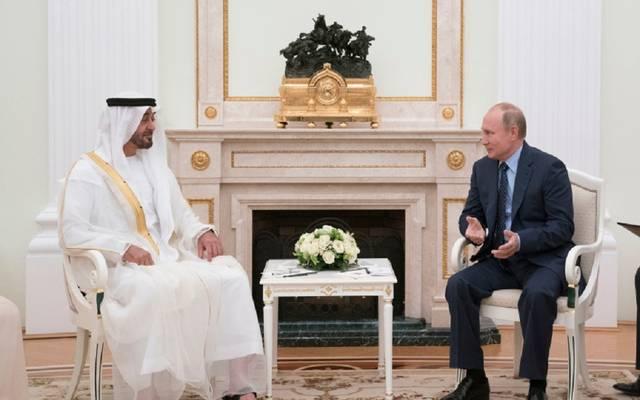 لقاء سابق بين ولي عهد أبوظبي والرئيس الروسي ـ أرشيفية