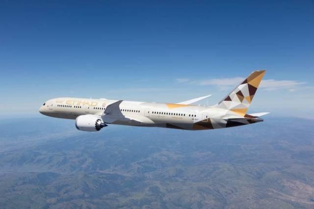 أحد الطائرات المملوكة لشركة الاتحاد للطيران