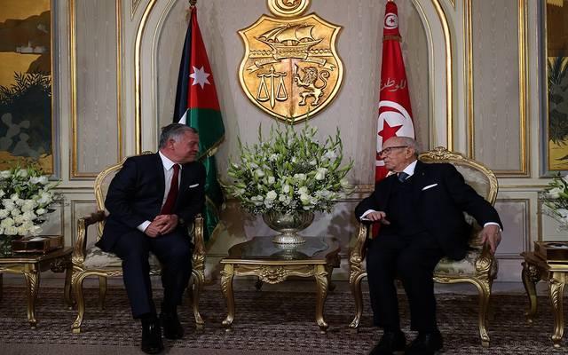 العاهل الأردني يبحث تعزيز العلاقات مع تونس