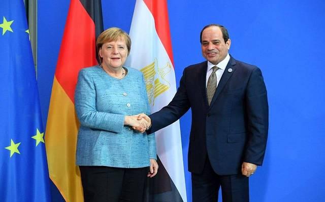 الرئيس السيسي مع المستشارة الألمانية ميركل