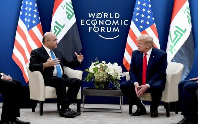 اجتماع الرئيس العراقي والرئيس الأمريكي على هامش اجتماعات المنتدى الاقتصادي العالمي في دافوس