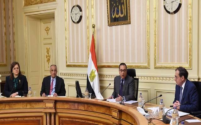 جانب من اجتماع المجموعة الوزارية الاقتصادية بمصر مساء اليوم