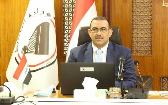 """وزير التخطيط العراقي خالد بتال النجم خلال مشاركته في اجتماعات الدورة الـ(35) لمؤتمر منظمة الأغذية والزراعة الإقليمي للشرق الأدنى المنعقد """"افتراضيا"""""""