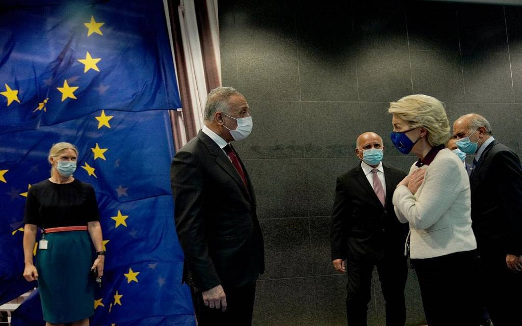 Al-Kazemi calls on the European Union to raise the name of Iraq from the high-risk countries 1024