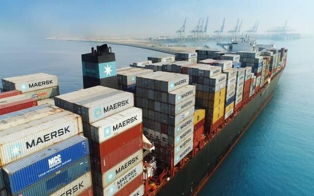 سفن محملة بالبضائع في ميناء الملك عبدالله بالسعودية