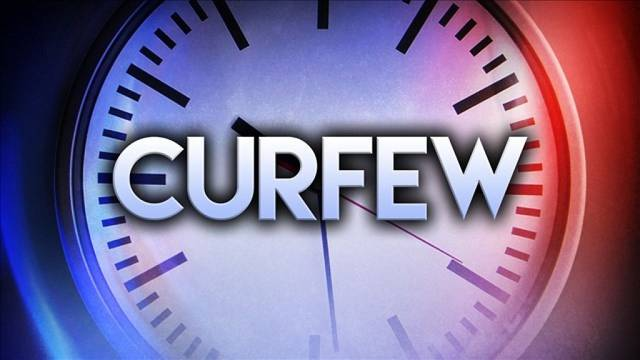 The partial curfew is effective as of Sunday