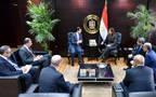 وزيرة الاستثمار والتعاون الدولي سحر نصر خلال لقائها مع مسؤولي مجموعة أبوظبي المالية