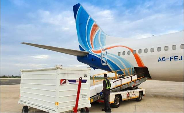 flydubai has used the cargo hold capacity in its passenger aircraft to deliver supplies