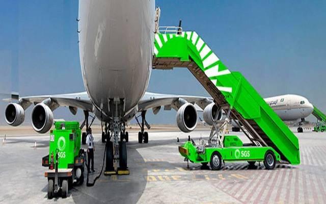 جانب من أعمال الشركة السعودية للخدمات الأرضية