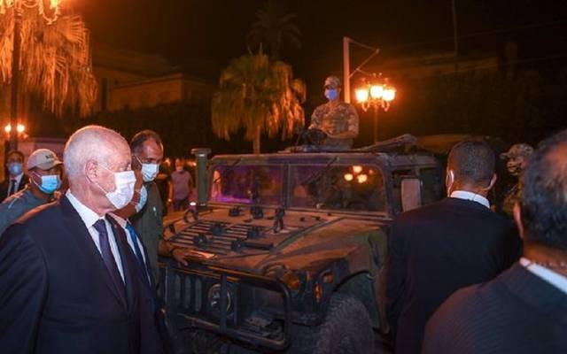 صورة أرشيفية لرئيس تونس قيس سعيد