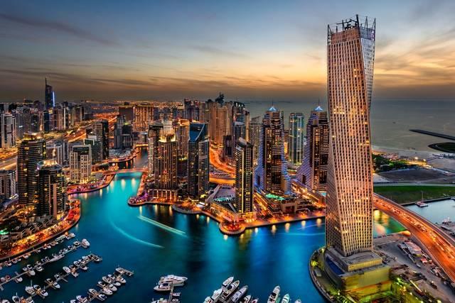 أحد الأماكن السياحية في دبي
