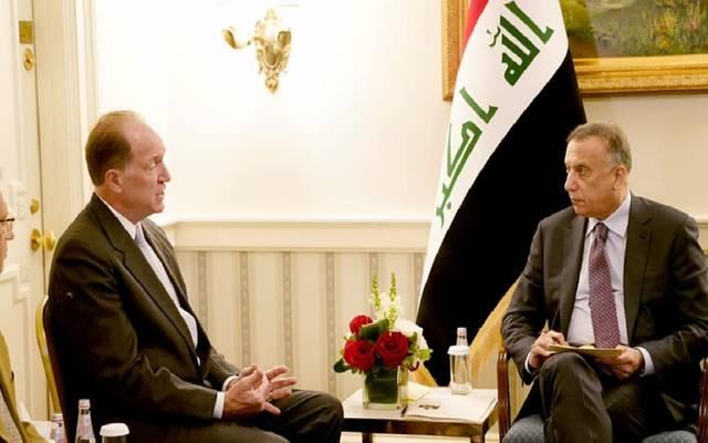 رئيس مجلس الوزراء العراقي مصطفى الكاظمي يلتقي في واشنطن رئيس مجموعة البنك الدولي