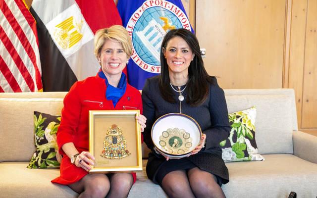 جانب من لقاء وزيرة التعاون الدولي المصرية مع الرئيس الجديد لبنك الصادرات الأمريكي