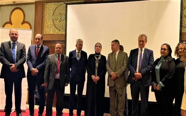 خلال فعاليات مؤتمر إطلاق الكتالوج الإلكتروني للمنتجات المصرية