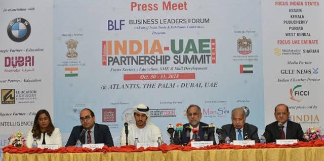 انطلاق الدورة الثانية لقمة الشراكة الهندية الإماراتية أكتوبر المقبل