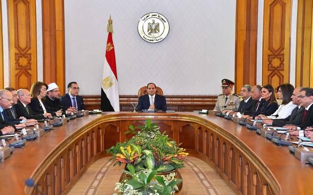 السيسي في اجتماع مع حكومة مصطفى مدبولي الجديدة