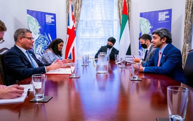 جانب من زيارة الشيخ عبدالله بن زايد آل نهيان إلى بريطانيا