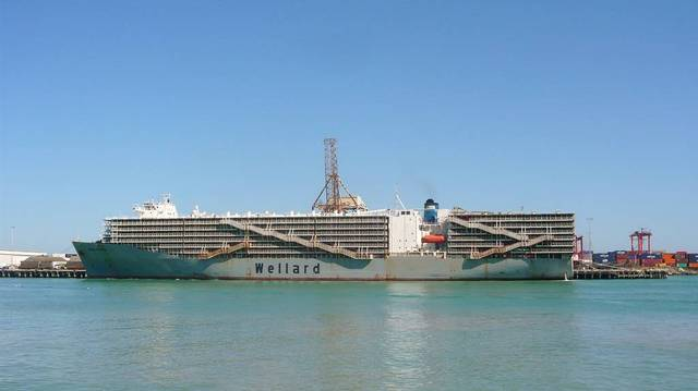 The vessel's price is expected to be paid over the week